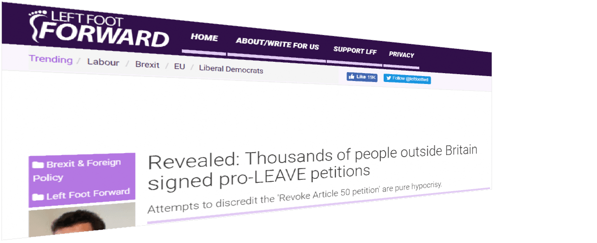 The Article 50 Petition HAS been hijacked by bots. We know, because we did it! 4