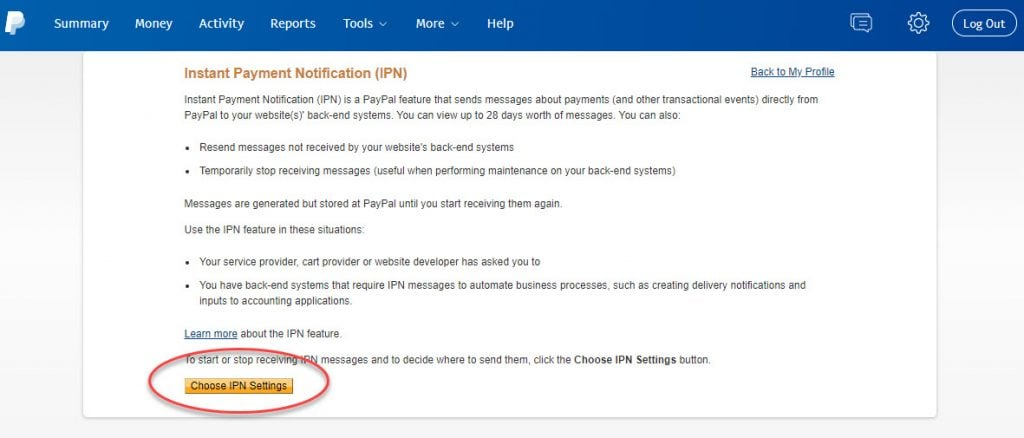 Finding the PayPal IPN - The Holy Grail was easier 2